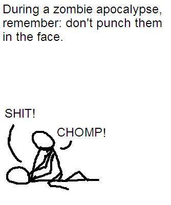 Zombie fighting tip #1